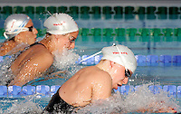 Germany's Kerstin Vogel, foreground, swims during a Women's 50m Breaststroke semifinal at the Swimming World Championships in Rome, 1 August 2009..UPDATE IMAGES PRESS/Riccardo De Luca