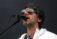 Pictured: Gruff Rhys of the Super Furry Animals Saturday May 2016<br /> Re: Manic Street Preachers at the Liberty Stadium, Swansea, Wales, UK