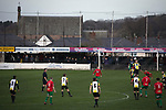 Congleton Town 1 Coventry United 1 (Pens 4-3), 19/12/2020. Ivy Gardens, FA Vase Third Round. First-half action as Congleton Town (white) play Coventry United. The home team were founded in 1901 and played in the North West Counties League Premier Division. They defeated their opponents from the Midland League Premier Division 4-3 on penalties after the match ended 1-1, watched by 300 spectators, the maximum permitted under Covid-19 restrictions. Photo by Colin McPherson.