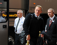 Garry Monk manager of Swansea City arrives at the Stadium of Light before kick off during the Barclays Premier League match between Sunderland and Swansea City played at Stadium of Light, Sunderland