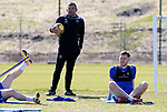St Johnstone Training...23.04.21<br />Manager Callum Davidson pictured during training this morning ahead of Sundays Scottish Cup game against Rangers.<br />Picture by Graeme Hart.<br />Copyright Perthshire Picture Agency<br />Tel: 01738 623350  Mobile: 07990 594431