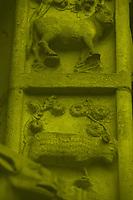A particular of the façade of Notre Dame, with the bas reliefs of a cow and a ram in monochrome (Paris, 2010).<br /> <br /> Un particolare della facciata di Notre Dame, con i bassorilievi di una mucca e di un montone in monocromatico (Parigi, 2010).