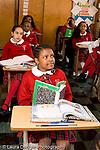 K-8 Parochial School Bronx New York Grade 4 row of listening students vertical