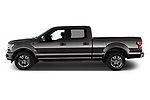 Car Driver side profile view of a 2020 Ford F-150 Lariat 4 Door Pick-up Side View