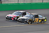 Monster Energy NASCAR Cup Series<br /> Quaker State 400<br /> Kentucky Speedway, Sparta, KY USA<br /> Saturday 8 July 2017<br /> Kyle Busch, Joe Gibbs Racing, Snickers Toyota Camry, Martin Truex Jr, Furniture Row Racing, Furniture Row/Denver Mattress Toyota Camry<br /> World Copyright: Logan Whitton<br /> LAT Images