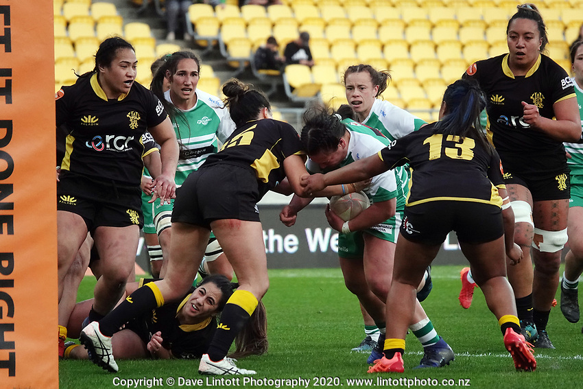 Action from the Farah Palmer Cup women's rugby match between Wellington Pride and Manawatu Cyclones at Sky Stadium in Wellington, New Zealand on Friday, 25 September 2020. Photo: Dave Lintott / lintottphoto.co.nz