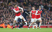 Arsenal's Pablo Mari and West Ham United's Michail Antonio<br /> <br /> Photographer Rob Newell/CameraSport<br /> <br /> The Premier League - Arsenal v West Ham United - Saturday 7th March 2020 - The Emirates Stadium - London<br /> <br /> World Copyright © 2020 CameraSport. All rights reserved. 43 Linden Ave. Countesthorpe. Leicester. England. LE8 5PG - Tel: +44 (0) 116 277 4147 - admin@camerasport.com - www.camerasport.com