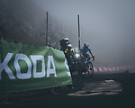 Miguel Angel Lopez Moreno (COL) Movistar Team climbing his way to victory on Stage 18 of La Vuelta d'Espana 2021, running 162.6km from Salas to Alto del Gamoniteiru, Spain. 2nd September 2021.   <br /> Picture: Cxcling   Cyclefile<br /> <br /> All photos usage must carry mandatory copyright credit (© Cyclefile   Cxcling)