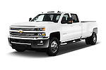 2016 Chevrolet Silverado-3500HD LT-Crew-Cab-Long-Box-DRW 4 Door Pick-up Angular Front stock photos of front three quarter view
