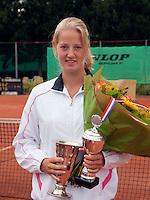 8-8-09, Asten,NJK, Tennis, Sabine van der Sar winnaar meisjes 18 jaar