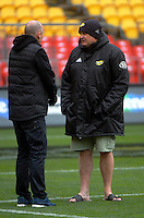 Hurricanes manager Tony Ward and coach Chris Boyd. Hurricanes Super Rugby final captain's run at Westpac Stadium, Wellington, New Zealand on Friday, 5 August 2016. Photo: Dave Lintott / lintottphoto.co.nz