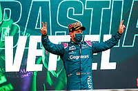 VETTEL Sebastian (ger), Aston Martin F1 AMR21, portrait celebrating his podium during the Formula 1 Azerbaijan Grand Prix 2021 from June 04 to 06, 2021 on the Baku City Circuit, in Baku, Azerbaijan -<br /> FORMULA 1 : Grand Prix Azerbaijan <br /> 06/06/2021 <br /> Photo DPPI/Panoramic/Insidefoto <br /> ITALY ONLY