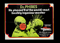 BNPS.co.uk (01202) 558833. <br /> Pic: SpecialAuctionServices/BNPS<br /> <br /> A poster advertising The Abominable Dr Phibes (1971) <br /> <br /> A collection of rare movie posters that have been sat gathering dust in a garage have sold at auction for £6,500.<br /> <br /> The 32 sheets date from the 1950s to the '70s and promote classic movies such as Frankenstein and Christopher Lee's Dracula.<br /> <br /> The vendor had owned the posters for several years after she had inherited them from a relative.