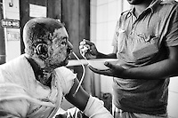 Al-Amin Mollah  at Dhaka Medical College Hospital Burn Unit. He was severly burnt when supportes of nationwide strike torched his bus ont 3rd November 2013 near Gazipur. Dhaka, Bangladesh