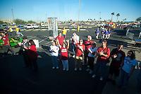 TEMPE, AZ - November 13, 2010: Fans during a football game at Arizona State University in Tempe, Arizona. Stanford won 17-13.