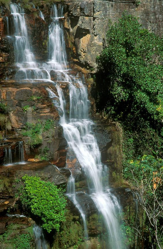 Part of waterfall Almecegas 1, Chapada dos Veadeiros, Goias, Brazil