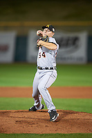 Salt River Rafters pitcher Artie Lewicki (54), of the Detroit Tigers organization, during a game against the Scottsdale Scorpions on October 20, 2016 at Scottsdale Stadium in Scottsdale, Arizona.  Scottsdale defeated Salt River 4-1.  (Mike Janes/Four Seam Images)
