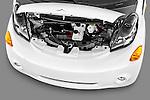 High angle engine detail of a 2012 Mitsubishi MiEV SE .