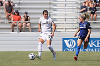 CARY, NC - SEPTEMBER 12: Christine Sinclair #12 of the Portland Thorns FC is shadowed by Denise O'Sullivan #8 of the North Carolina Courage during a game between Portland Thorns FC and North Carolina Courage at Sahlen's Stadium at WakeMed Soccer Park on September 12, 2021 in Cary, North Carolina.