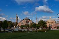 Antique Byzantine church of Hagia Sophia in Istanbul, Turkey