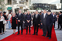 SEptember 3,, 2012 - Montreal (Qc) CANADA -  <br />  Montreal World Film Festival closing day red carpet - - some Jury members with Helen Foutopoulos (M) and Serge Losique (R)