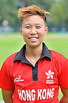 Kary Chan Ka Ying of Hong Kong poses for a photo prior to the ICC 2016 Women's World Cup Asia Qualifier match between Hong Kong vs Nepal on 09 October 2016 at the Tin Kwong Road Cricket Recreation Ground in Hong Kong, China. Photo by Marcio Machado / Power Sport Images
