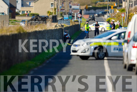 Garda Road Traffic Technical Officers at the scene of the road traffic accident in Ballyheigue on Tuesday