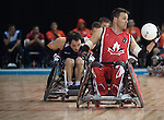 MISSISSAUGA, ON, AUGUST 12, 2015. Wheelchair Rugby - Canada vs USA in preliminary action. USA won the game 60-59 in double overtime - Mike Whitehead.<br /> Photo: Dan Galbraith/Canadian Paralympic Committee