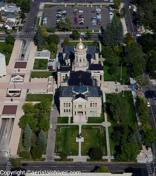 aerial photograph state capitol Cheyenne, Wyoming