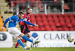 Dave Mackay Testimonial: St Johnstone v Dundee…06.10.17…  McDiarmid Park… <br />Denny Johnstone scores<br />Picture by Graeme Hart. <br />Copyright Perthshire Picture Agency<br />Tel: 01738 623350  Mobile: 07990 594431