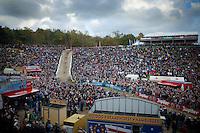 "massive crowd cheering in ""The Pit""<br /> <br /> GP Zonhoven 2014"