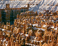 Evening light on Silent City as viewed from Sunset Point; Bryce Canyon National Park, UT