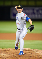 Mesa Solar Sox pitcher Kevin Rhoderick #40, of the Chicago Cubs organization, during an Arizona Fall League game against the Salt River Rafters at Salt River Fields at Talking Stick on October 9, 2012 in Scottsdale, Arizona.  Salt River defeated Mesa 6-5.  (Mike Janes/Four Seam Images)