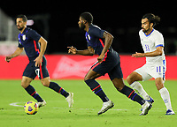 FORT LAUDERDALE, FL - DECEMBER 09: Mark McKenzie #4 of the United States turns and moves with the ball during a game between El Salvador and USMNT at Inter Miami CF Stadium on December 09, 2020 in Fort Lauderdale, Florida.