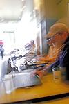 Seattle, Laptops, WiFi, Coffee at Herkimers Coffee, Greenwood Neighborhood, Seattle, Washington State, Pacific Northwest.