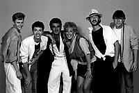 Sessionde photos studio du groupe Hollywood and Wine<br /> ,  28 juillet 1987<br /> <br />  - PHOTO D'ARCHIVE :  Agence Quebec Presse