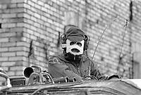 - NATO exercises in Germany, tank soldier of German Army (January 1985)<br /> <br /> - esercitazioni NATO in Germania, soldato carrista dell'esercito tedesco (Gennaio 1985)