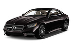 2019 Mercedes Benz S-Class S560 2 Door Coupe angular front stock photos of front three quarter view