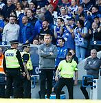 12.05.2019 Rangers v Celtic: Neil Lennon after Rangers score