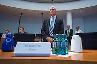 Sitzung des NSA-Untersuchungsausschuss am Mittwoch den 17. Juni 2015.<br /> Im Bild: Gerhard Schindler, Praesident des Bundesnachrichtendienst, BND, musste als Zeuge vor den Untersuchungsausschuss.<br /> 17.6.2015, Berlin<br /> Copyright: Christian-Ditsch.de<br /> [Inhaltsveraendernde Manipulation des Fotos nur nach ausdruecklicher Genehmigung des Fotografen. Vereinbarungen ueber Abtretung von Persoenlichkeitsrechten/Model Release der abgebildeten Person/Personen liegen nicht vor. NO MODEL RELEASE! Nur fuer Redaktionelle Zwecke. Don't publish without copyright Christian-Ditsch.de, Veroeffentlichung nur mit Fotografennennung, sowie gegen Honorar, MwSt. und Beleg. Konto: I N G - D i B a, IBAN DE58500105175400192269, BIC INGDDEFFXXX, Kontakt: post@christian-ditsch.de<br /> Bei der Bearbeitung der Dateiinformationen darf die Urheberkennzeichnung in den EXIF- und  IPTC-Daten nicht entfernt werden, diese sind in digitalen Medien nach §95c UrhG rechtlich geschuetzt. Der Urhebervermerk wird gemaess §13 UrhG verlangt.]