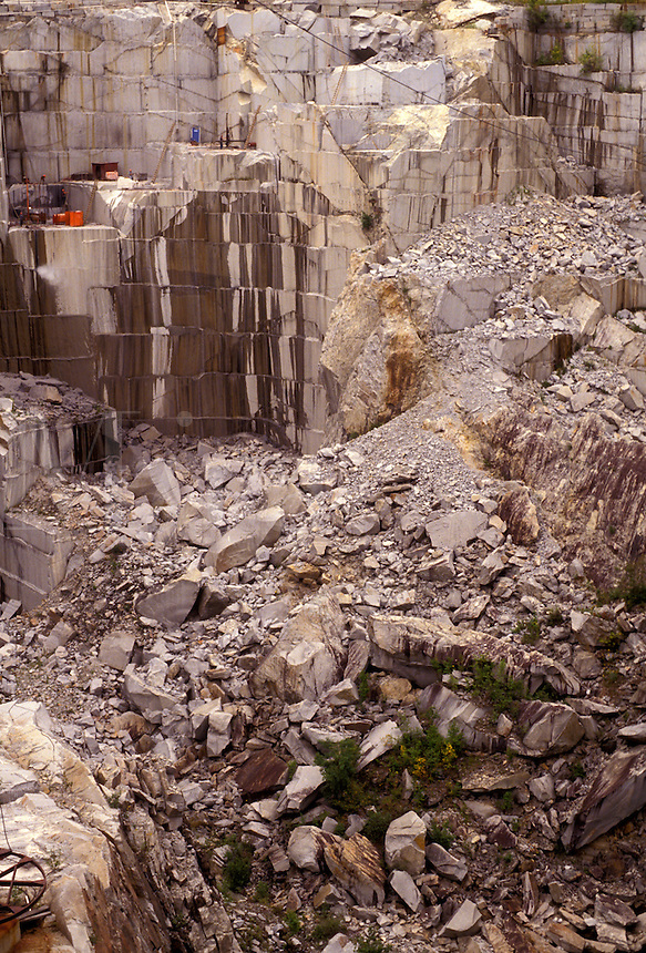 AJ2896, granite quarry, granite, Vermont, Rock of Ages, A view of the Rock of Ages Quarry (one of the largest granite plants in the world) in Graniteville in the state of Vermont.