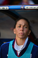 Lorient, France. - Sunday, February 8, 2015: Shannon Boxx (7) of the USWNT. France defeated the USWNT 2-0 during an international friendly at the Stade du Moustoir.