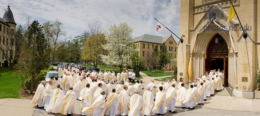 Apr. 30, 2011; Concelebrants enter the Basilica of the Sacred Heart for the 2011 Ordination Mass...Photo by Matt Cashore/University of Notre Dame