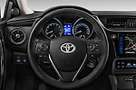 Car pictures of steering wheel view of a 2015 Toyota Auris Dynamic 5 Door Hatchback Steering Wheel
