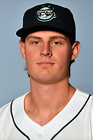 Asheville Tourists pitcher Tommy Doyle (16) poses for a photo at Story Point Media on April 3, 2017 in Asheville, North Carolina. (Tony Farlow/Four Seam Images)