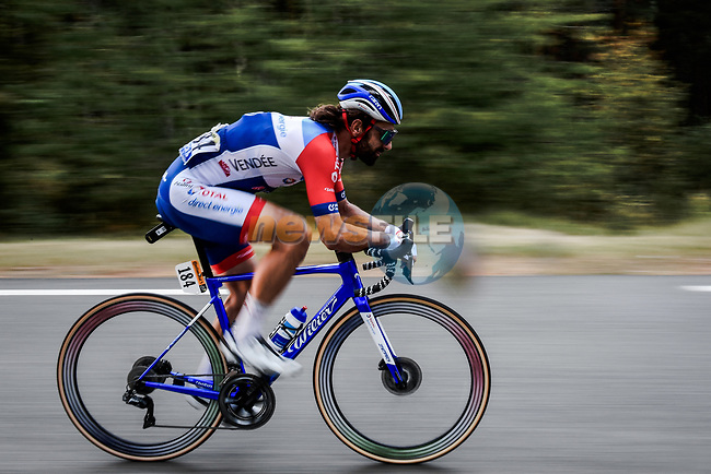 Jérôme Cousin (FRA) Total Direct Energie left to race alone from the break with 130km to the finish during Stage 3 of Tour de France 2020, running 198km from Nice to Sisteron, France. 31st August 2020.<br /> Picture: ASO/Pauline Ballet | Cyclefile<br /> All photos usage must carry mandatory copyright credit (© Cyclefile | ASO/Pauline Ballet)