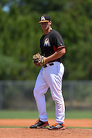 Miami Marlins pitcher Tyler Kolek (34) during a minor league spring training game against the New York Mets on March 30, 2015 at the Roger Dean Complex in Jupiter, Florida.  (Mike Janes/Four Seam Images)