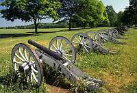 AJ2749, Valley Forge Park, battery, cannons, Valley Forge, Pennsylvania, Cannons at Artillery Park in Valley Forge National Historical Park in Valley Forge in the state of Pennsylvania.
