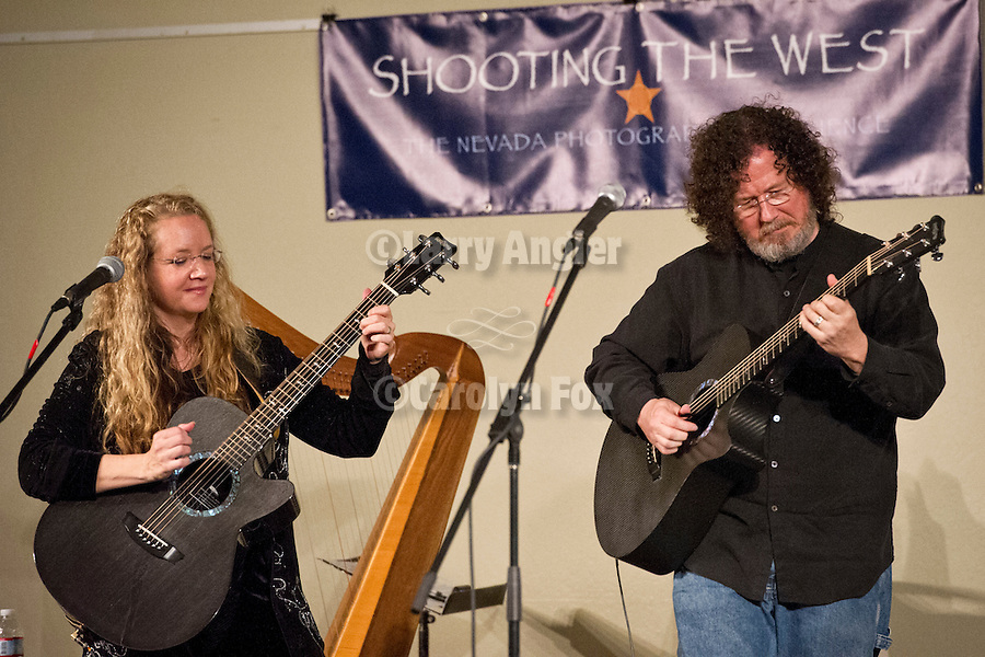 Amy White and Al Petteway present Hight in the Blue Ridge, concert and multimedia show during Shooting the West XXIV, WInnemucca, Nevada