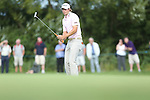 Peter Uihlein watches as his birdie attempt slips past on the 13th hole during the 3rd round of ISPS Handa Wales Open 2013<br /> Celtic Manor Resort<br /> <br /> 31.08.13<br /> <br /> ©Steve Pope-Sportingwales